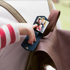 Personalised Leather Luggage Tag With Photo - gifts for him