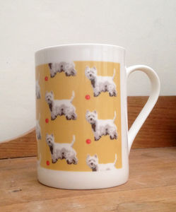 Westie China Mug - kitchen accessories