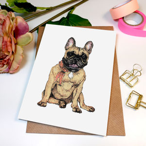 'Frenchie French Bulldog' Greeting Card