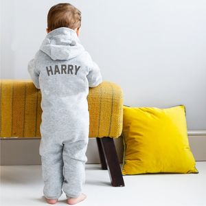 Personalised Zip Up Onesie