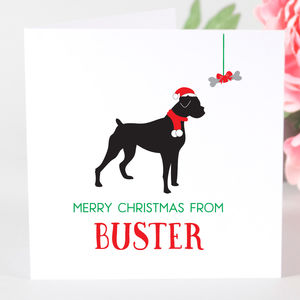 Personalised Boxer Dog Christmas Card