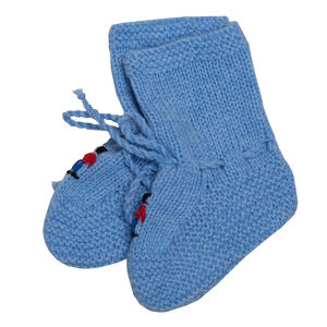 Hand Knitted Cashmere Soldiers Baby Booties