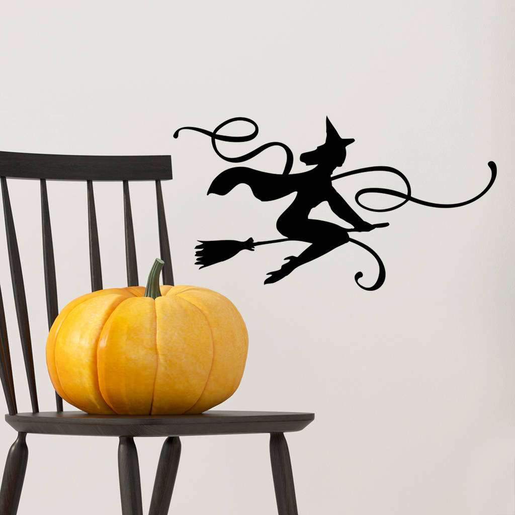 Flying Witch Halloween Wall Sticker