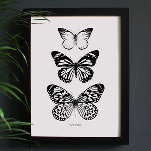 Encyclopaedic Inspired Fine Art Print, Butterflies