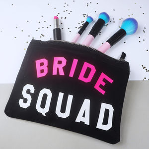 'Bride Squad' Make Up Bag