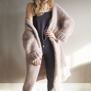 Dreamy Oversized Cardigan Knitting Kit - knitting kits