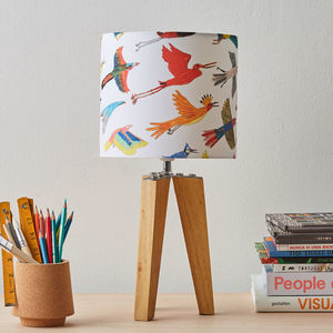 Small Colourful Birds Lampshade - children's room accessories