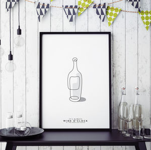 'Fine Wine Line' Personalised Print