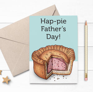 Funny Illustrated Pork Pie Fathers Day Card