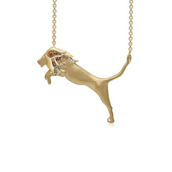 Lucky Eight Lion Necklace