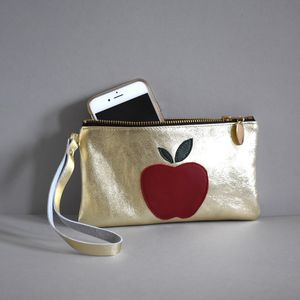 Leather Wristlet Apple