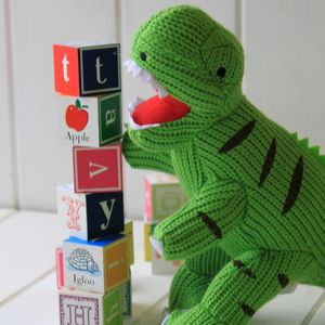 Knitted T Rex Dinosaur - cuddly toys