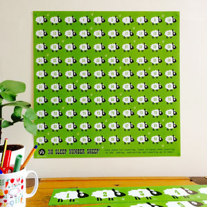 Sheep Children's Number Poster - summer sale