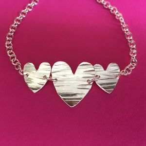 Hammered Hearts Bracelet