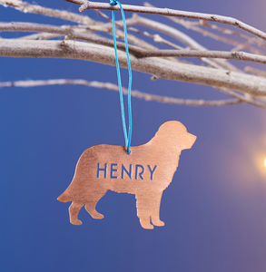 Personalised Copper Pet Christmas Decoration - tree decorations