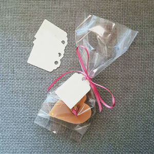 Pack Of 25 Clear Favour Bags, Tags And Ribbon - favour bags, bottles & boxes