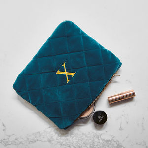 Luxurious Monogrammed Quilted Wash Bag - gifts for her