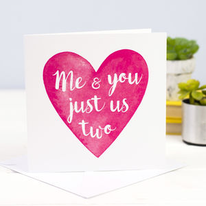 'Just Us Two' Valentines Card