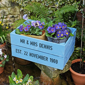 Personalised Sapphire Wedding Anniversary Crate - window boxes