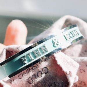 Baby Name Bangle For Mothers Silver
