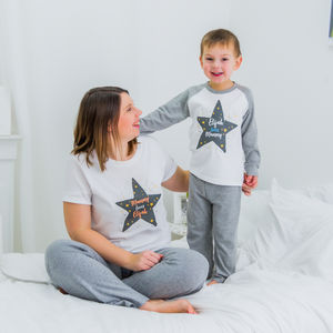Personalised Mother's Day Mummy And Me Star Pyjamas