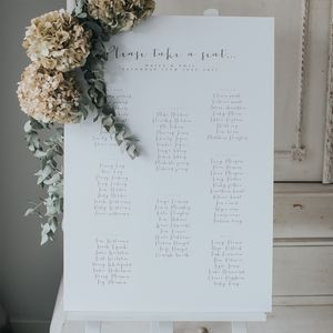 Amour Table Plan - room decorations