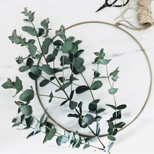 Hanging Brass Wreath Ring - room decorations