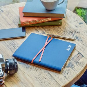 Handmade Leather Notebook With Contrasting Wrap