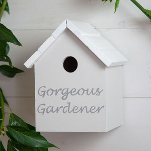 'Gorgeous Gardener' Birdhouse - birds & wildlife