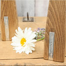 Two Personalised Wooden Vase Candlesticks