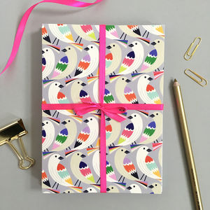 Set Of Eight Cards With Bird Prints - all purpose cards