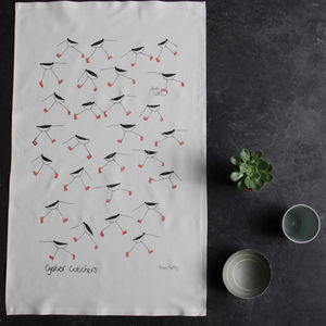 Oyster Catchers Tea Towel