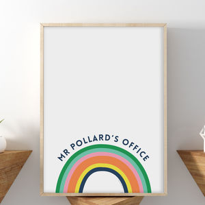 Personalised Thank You Teacher Rainbow Print