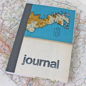 Vintage Map Travel Journal - frequent traveller