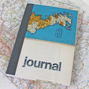 Linen Map Travel Journal