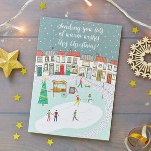 Snowy Village Christmas Card Pack - winter sale