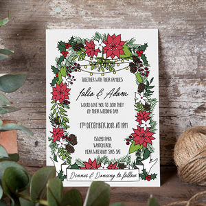 Mistletoe Wedding Invite - invitations
