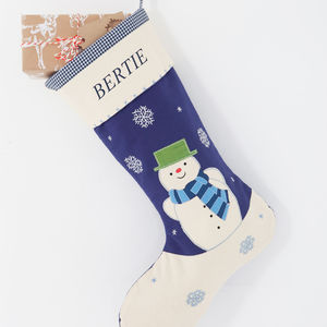 Personalised Boys Snowman Stocking - christmas sale