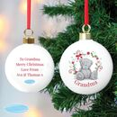 Personalised Tatty Bear Bauble For Nan And Mum