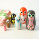 Retro Style Matryoshka Animal Russian Doll Set