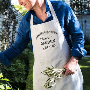 Personalised My Organic Garden Linen Apron - best father's day gifts