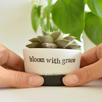 'Bloom With Grace' Minimal Planter