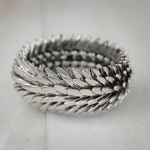 Metal Feather Bracelet - jewellery sale