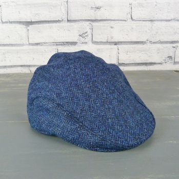Yorkshire Herringbone Tweed Flat Cap