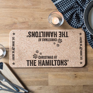 Personalised Christmas Cork Runner - tableware