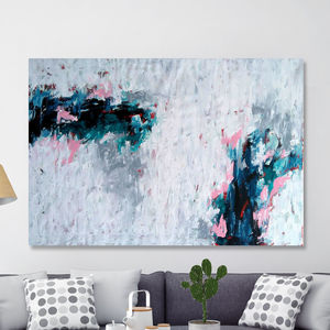 Killing Me Softly Original Abstract Painting Minimal - canvas prints & art