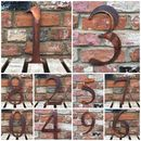 Large Rusted Metal House Numbers