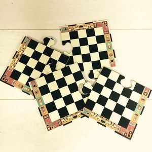 My First Wooden Chess Set - traditional toys & games