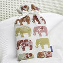 Exotic Elephant Hot Water Bottle And Personalised Cover