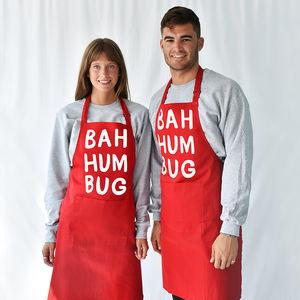 'Bah Humbug' Christmas Apron